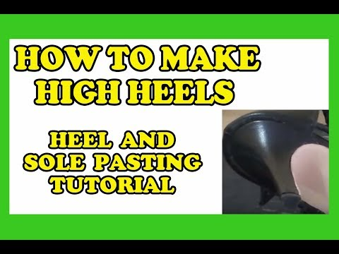 Christian Milano - How To Make High Heels - Heel and Sole PastingTtutorial of a Leather Sandal