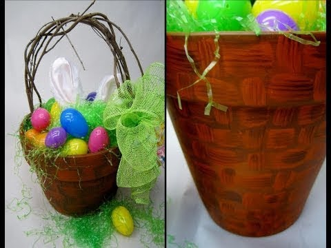Terra Cotta Easter Basket ~ Featuring Miriam Joy