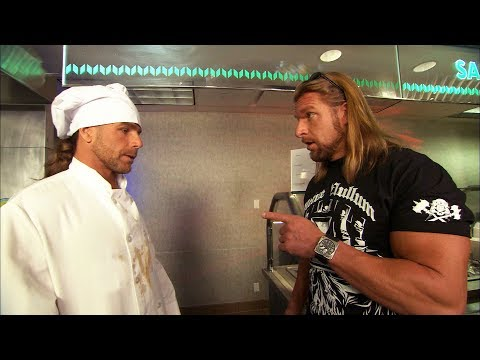 Triple H finds Shawn Michaels working in a cafeteria: Raw, Aug. 10, 2009