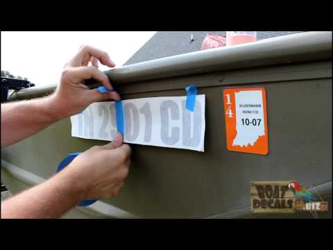 How to Install and Remove Boat Lettering