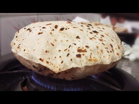 Soft Roti/Fulka/Chapati Recipe With And Without Gas Flame | Puff Roti in a skillet/tawa