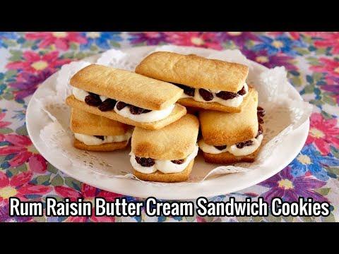 Hokkaido Marusei Rum Raisin Butter Cream Sandwich Cookies (Famous Souvenir Sweets Recipe)