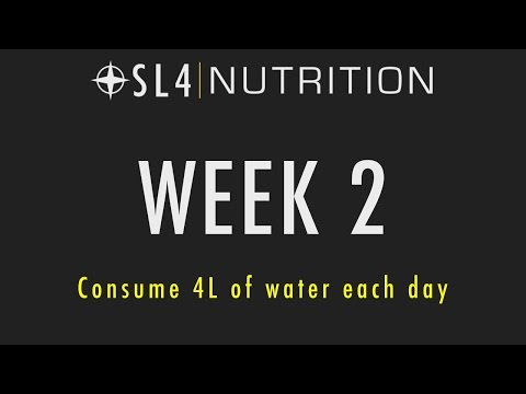 SL4 Nutrition: Week 2 - Drink 4L of water per day