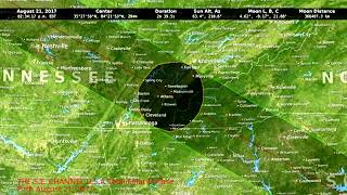 U.S.A Total Solar Eclipse Path August 21, 2017
