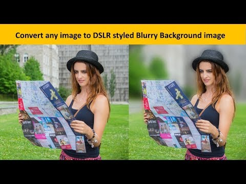 Convert image to Blurry Background using GIMP