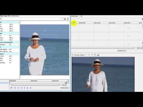 Make narrow images fill your wide screen video Sony Movie Studio