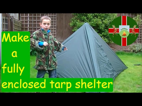 How To Make An Easy Fully Enclosed Tarp Shelter With A DD Hammocks 3x3m Tarp