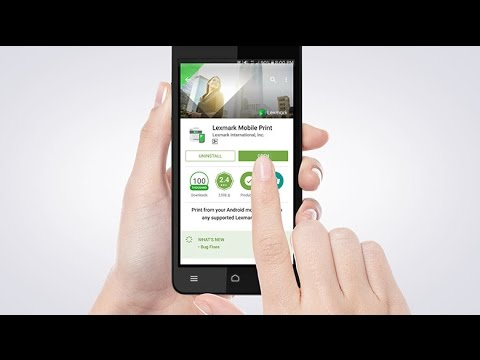 Lexmark Mobile Print—Installing the application for Android