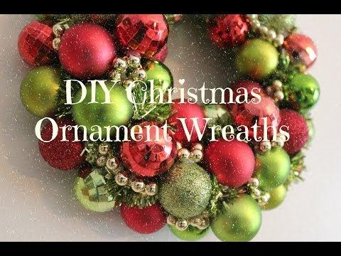 DIY Christmas Ornament Wreath Tutorial
