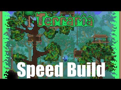 Terraria speed build - Tree house!