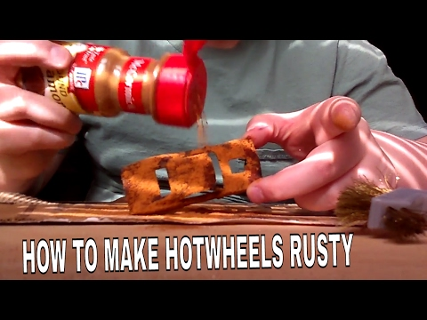 How To Make A Howtwheel Car Rusty With 2 Materials