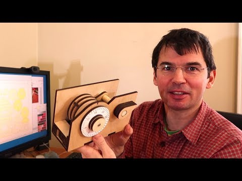 Laser cut wooden combination lock