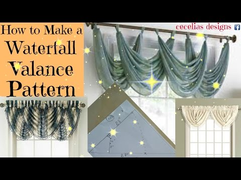 How to make a Waterfall Valance Pattern