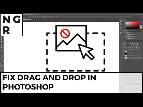 Photoshop can't drag and drop quick fix -2 minutes all windows versions
