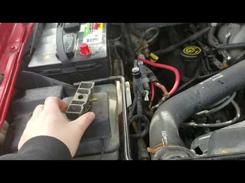 how to change a battery in a 1997 ford f150 xlt 4.6l v8