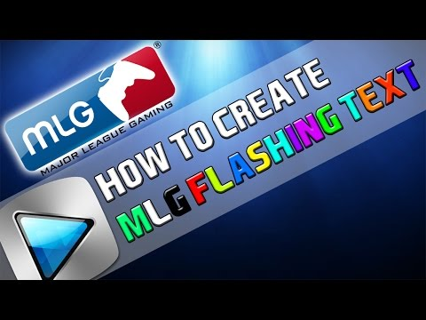 How To: Make Flashing MLG Text in Sony Vegas Pro 11, 12 or 13