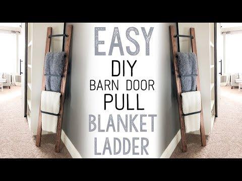 Barn Door Pull Blanket Ladder