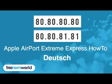 Freenom World Apple AirPort Extreme Express HowTo (German)