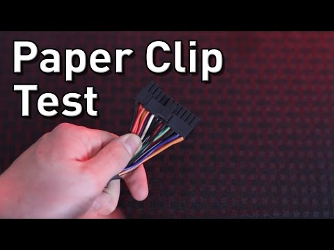 Power Supply Paperclip Test | Diagnose a computer that won't turn on.