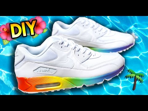 How To: Rainbow Your Shoes Using Fading Techniques | Air Max 90 Custom Tutorial