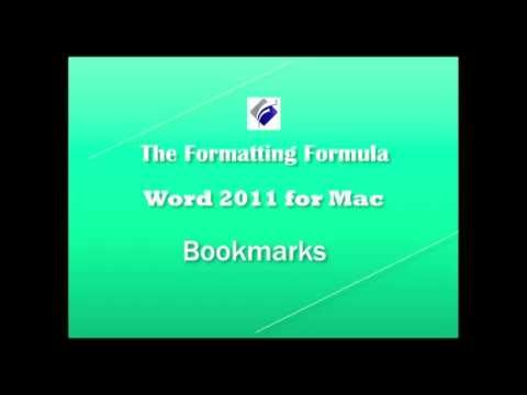 Word 2011 for MAC  Bookmarks