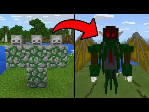 NEW BOSS MOB in Minecraft Pocket Edition (Cthulhu Addon)