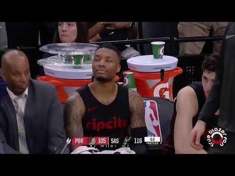 Portland Trail Blazers vs San Antonio Spurs - Full Game Highlights - April 07, 2018