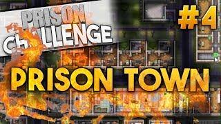 Prison Architect Challenge: PRISON TOWN ★ PYROMANIAC PRISONER (#4) - Prison Architect User Challenge