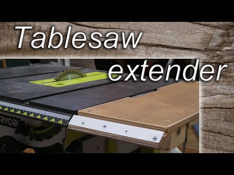 Hommemade extender for table saw