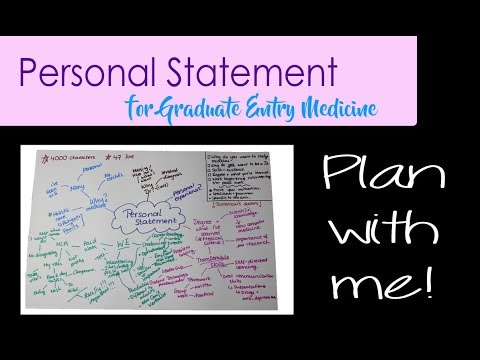 Graduate Entry Medicine Personal Statement | Plan With Me!