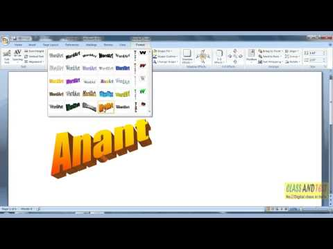 MS WORD 86 -Change the Word Art Style.mp4