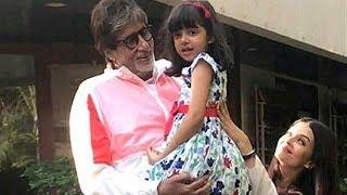 Aaradhya Bachchan Waves At Grandfather Amitabh Bachchan's Fans | SpotboyE