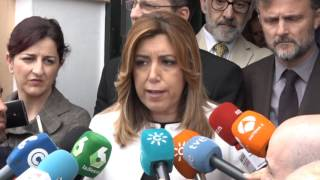 Susana Díaz critica la propuesta de Podemos sobre una moción de censura