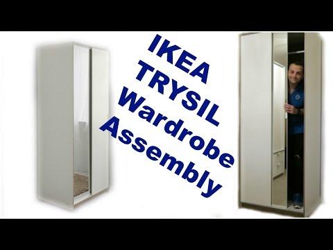 IKEA Wardrobe TRYSIL White mirror Assembly