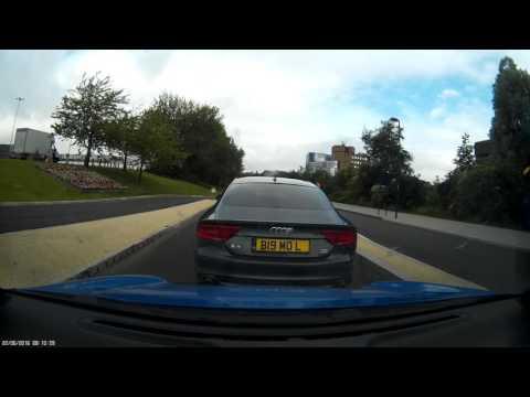 Audi Crash for cash attempt