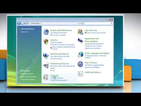 How to uninstall an older version of Java® in Internet Explorer® 9 on Windows® Vista