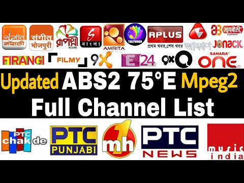 ABS2 75E Channel List | Updated | Abs2 at 75°E | Abs free dish | Abs2 strong Tp
