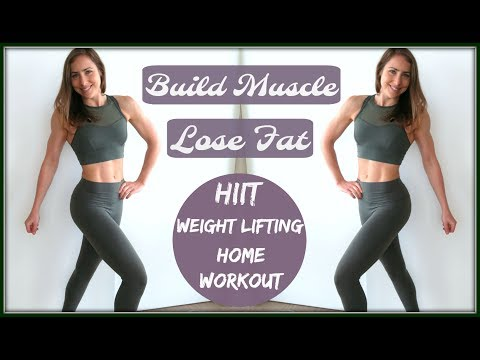 Full Body HIIT + Weightlifting Workout // Build Muscle + Lose Fat at Home
