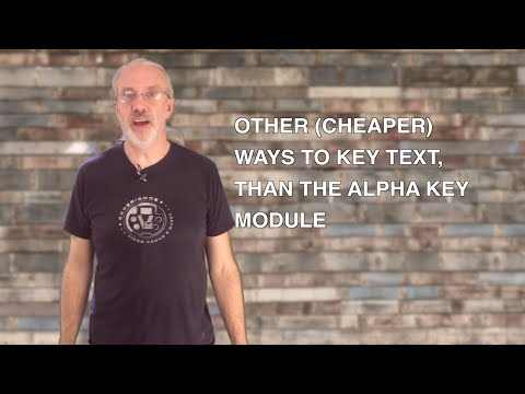 ProPresenter Tutorial: Other ways to key text from ProPresenter than using the alpha key module