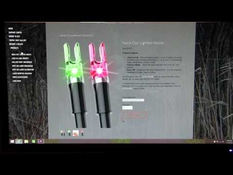 SUPER BRIGHT lighted nocks | clean shot nockout lighted nocks