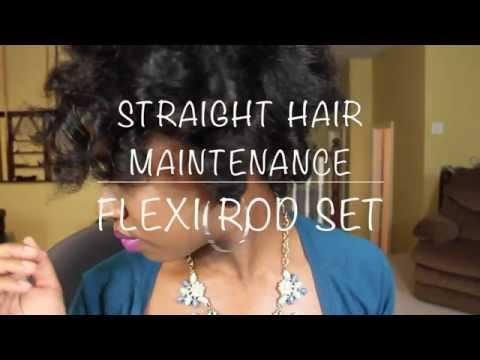 Flexi Rod Set on Straight Hair