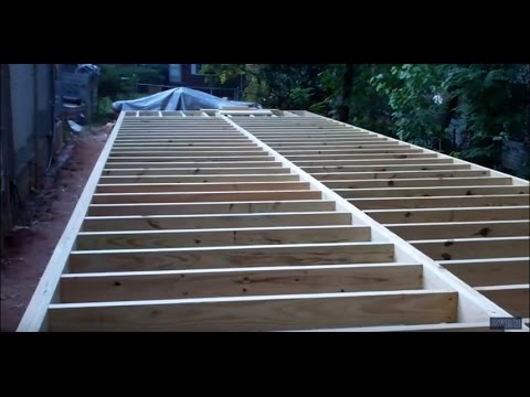 Construction of Project 'Mega Shed' Part 4: Building the Subfloor Framing