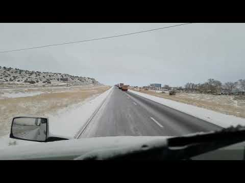 New Mexico I40 Ice Driving recipe for accident