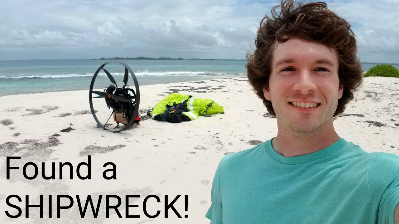 Flying to a deserted island on my paramotor!
