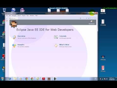 Parte 1: HTML5 - Intalar  Servido Glassfish en IDE Eclipse