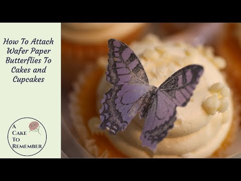 How to attach wafer paper butterflies to a cake, simple cake decorating tips