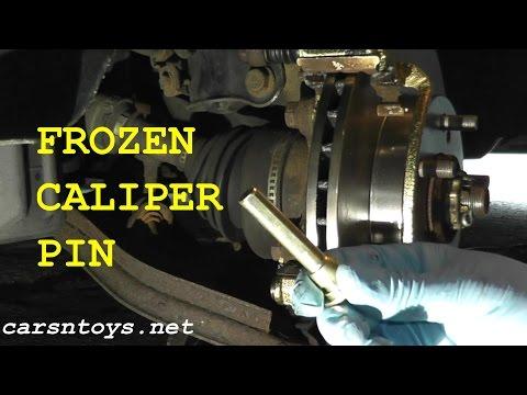 Frozen Stuck Seized Caliper Pin Removal HD (Failure & Success =D)