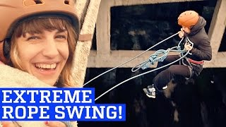 Rope Swing in Abandoned Warehouse!