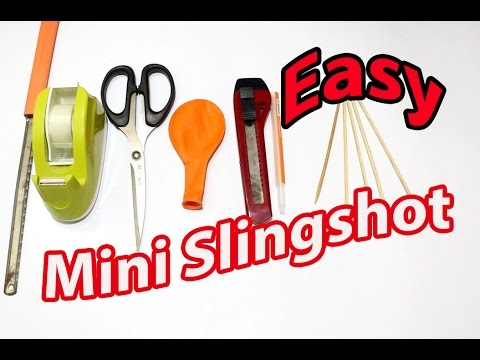 How To Make a mini Slingshot from Balloon and Pen