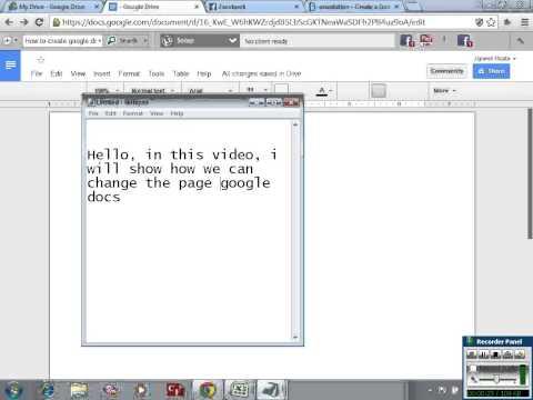Create Google Docs In Landscape Mode